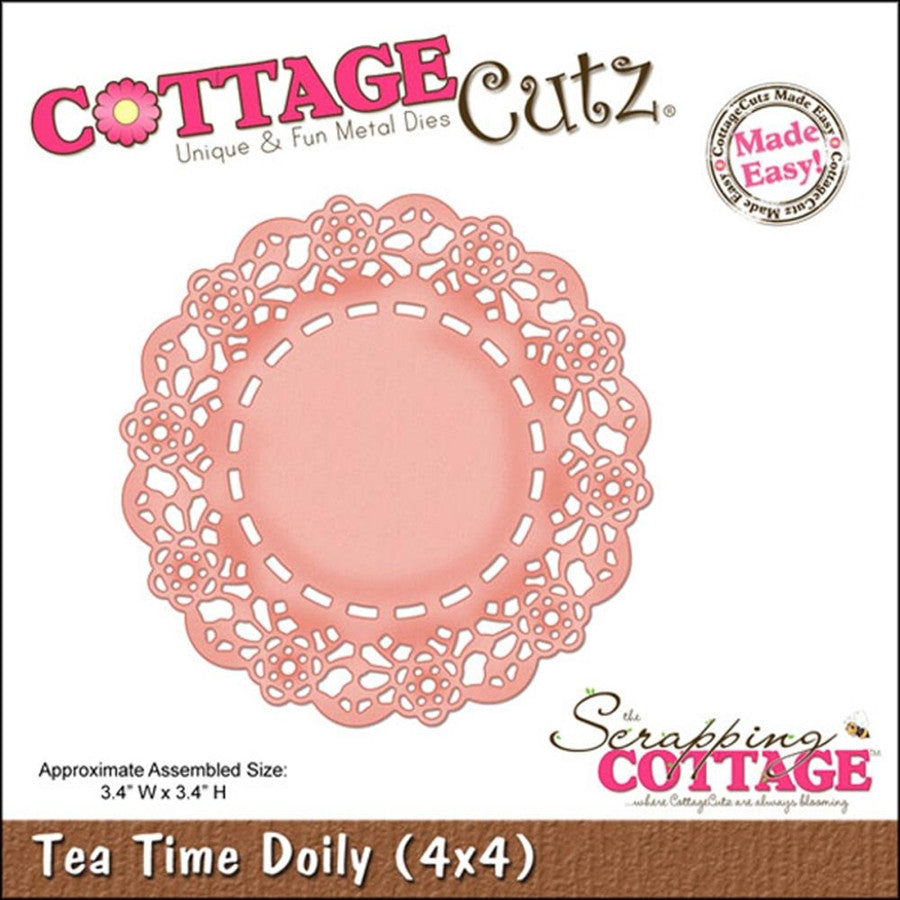 Tea Time Doily Die Cut By Cottage Cutz - Inspiration Station Scrapbook Store & Retreat