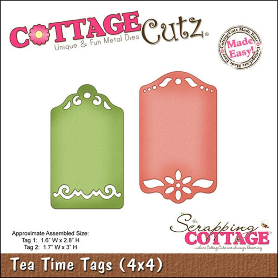 Tea Tags Die Cut By Cottage Cutz - Inspiration Station Scrapbook Store & Retreat