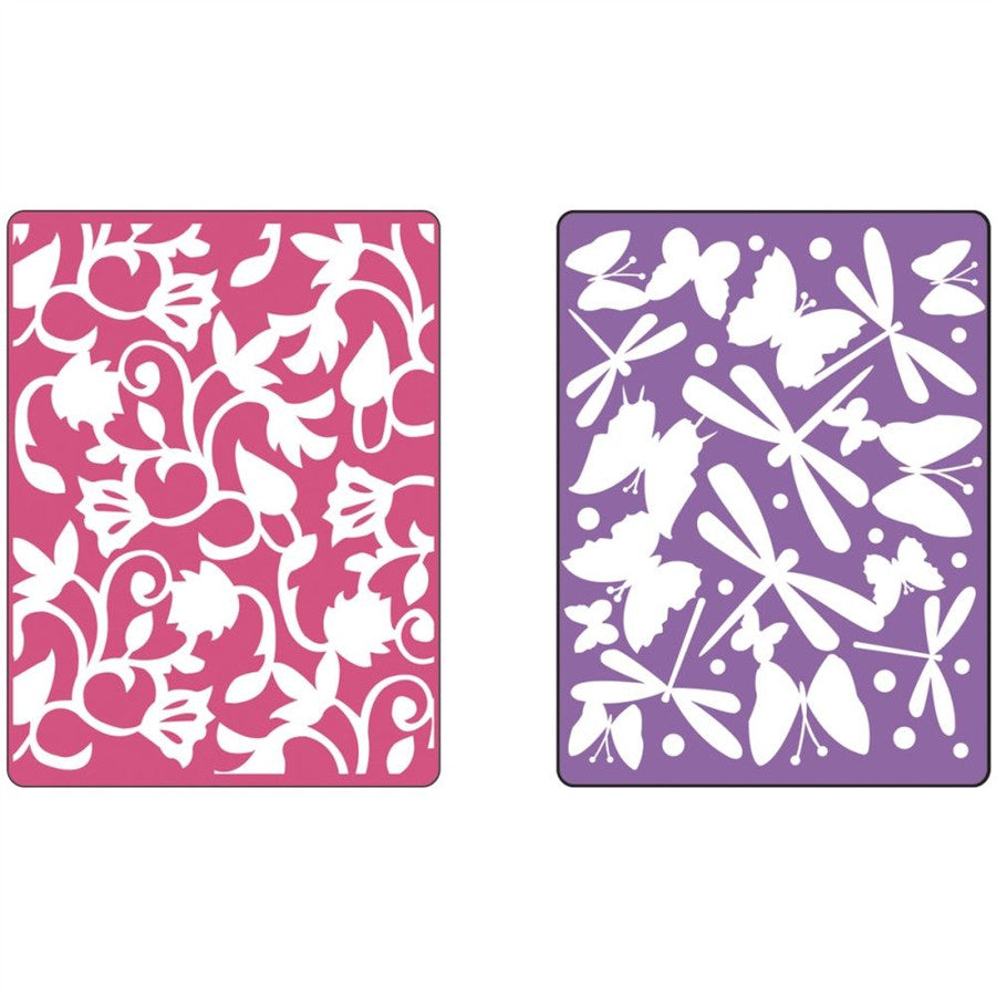 Swirls, Butterflies & Dragonflies embossing folder set by Sizzix 658077 - Inspiration Station Scrapbook Store & Retreat