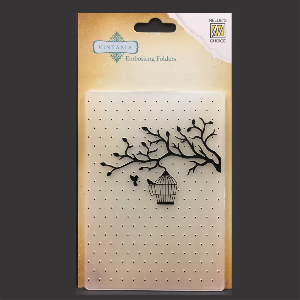 Bird Love Embossing Folder by Nellie Snellen Craft Folders VINF005