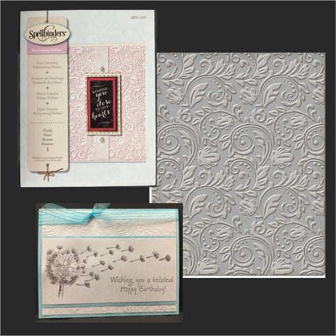Floral Embossing Folder by Spellbinders Embossing Folders SES-007