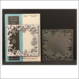 Dancing Snowflake Square metal die by Memory Box dies 99582