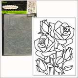 Rose Mosaic embossing folder by Darice embossing folders 30008386