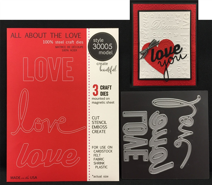 ALL ABOUT THE LOVE Steel Craft Die set by MEMORY BOX 30005 - Inspiration Station Scrapbook Store & Retreat