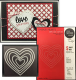 CHERUB HEARTS die set by MEMORY BOX 30008 (5 nesting hearts) - Inspiration Station Scrapbook Store & Retreat