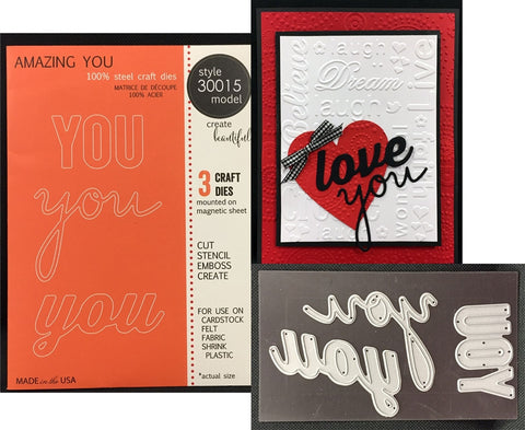 AMAZING YOU Words Steel Craft Die Set by MEMORY BOX 30015 - Inspiration Station Scrapbook Store & Retreat