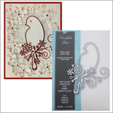 Snowflake Bird metal die by Memory Box dies 99564