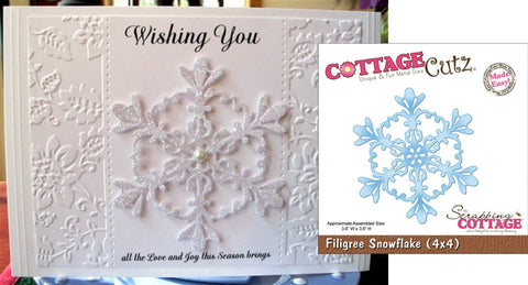 Filigree Snowflake Made Easy Die Cut By Cottage Cutz - Inspiration Station Scrapbook Store & Retreat