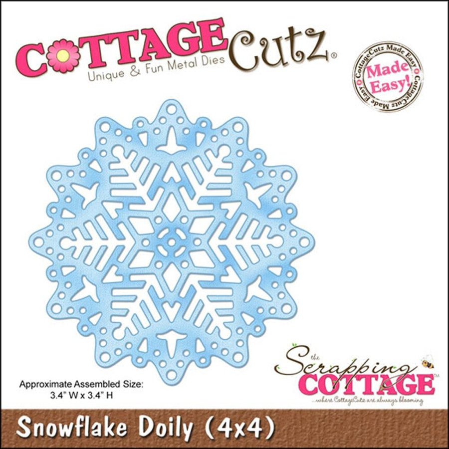Snowflake Doily Die Cut By Cottage Cutz - Inspiration Station Scrapbook Store & Retreat