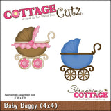 Baby Buggy metal die By Cottage Cutz CC4X4-493 - Inspiration Station Scrapbook Store & Retreat