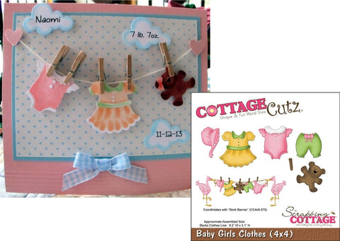 Baby Girl Clothes Metal Die Cuts By Cottagecutz Cutting Dies CC4X4-496 - Inspiration Station Scrapbook Store & Retreat