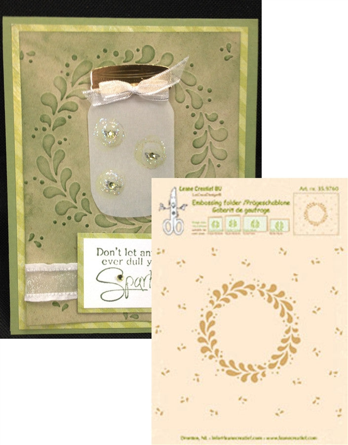 WREATH by LEANE CREATIEF Embossing Folder 35.9760 - Inspiration Station Scrapbook Store & Retreat
