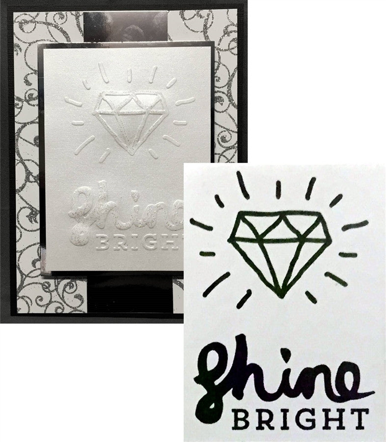 SHINE BRIGHT embossing folder by PINK PAISLEE - Inspiration Station Scrapbook Store & Retreat