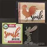 Smile word metal die - Impression Obsession dies DIE378-E words,phrases,script