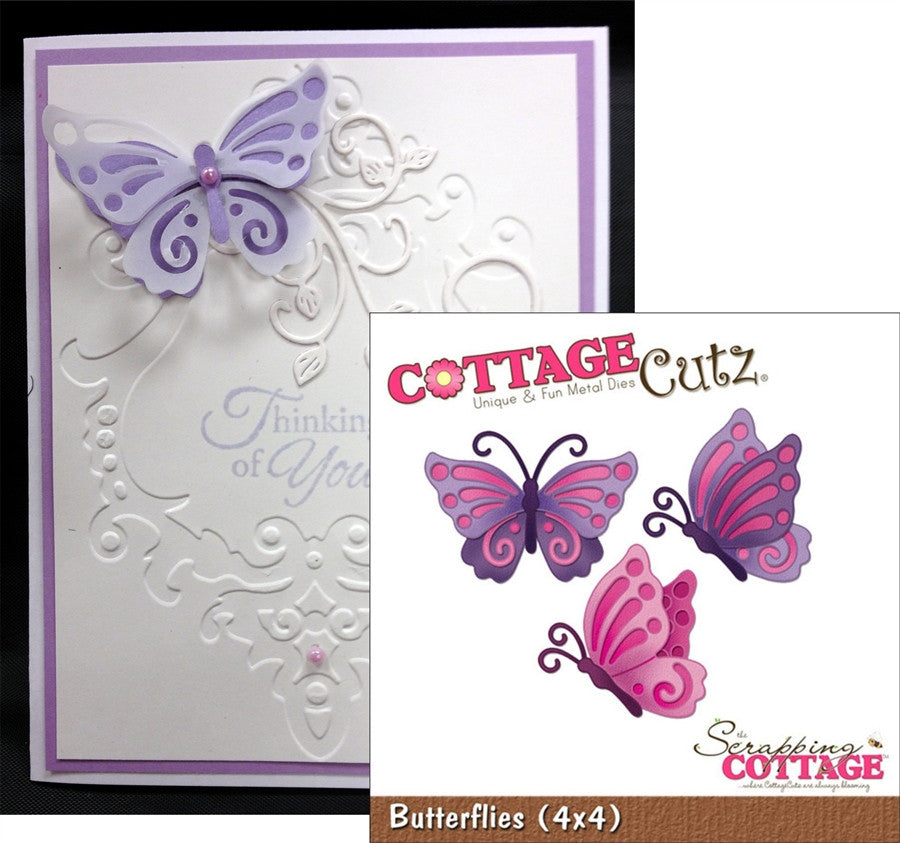 BUTTERFLIES By COTTAGE CUTZ Dies 4X4154 - Inspiration Station Scrapbook Store & Retreat