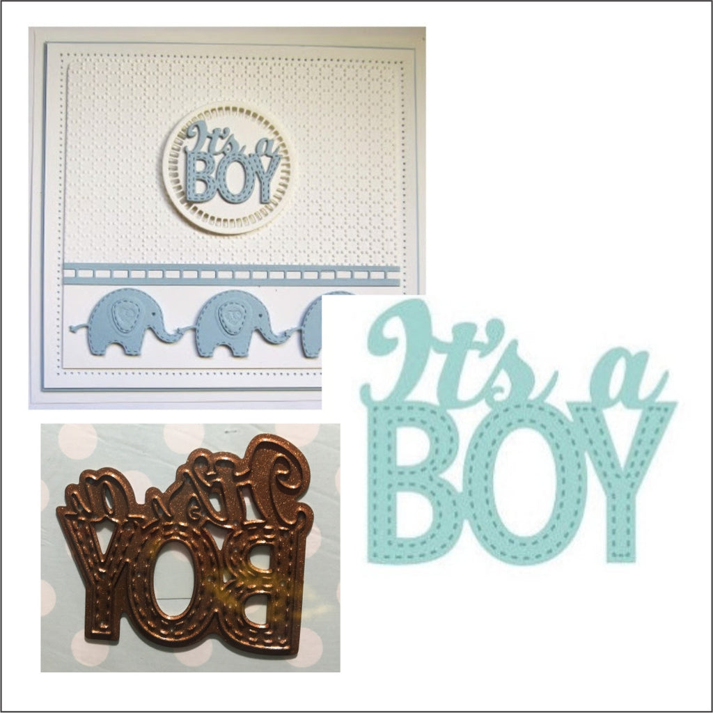 It's A Boy Metal Craft Die by Creative Expressions Dies CED10022 - Inspiration Station Scrapbook Store & Retreat