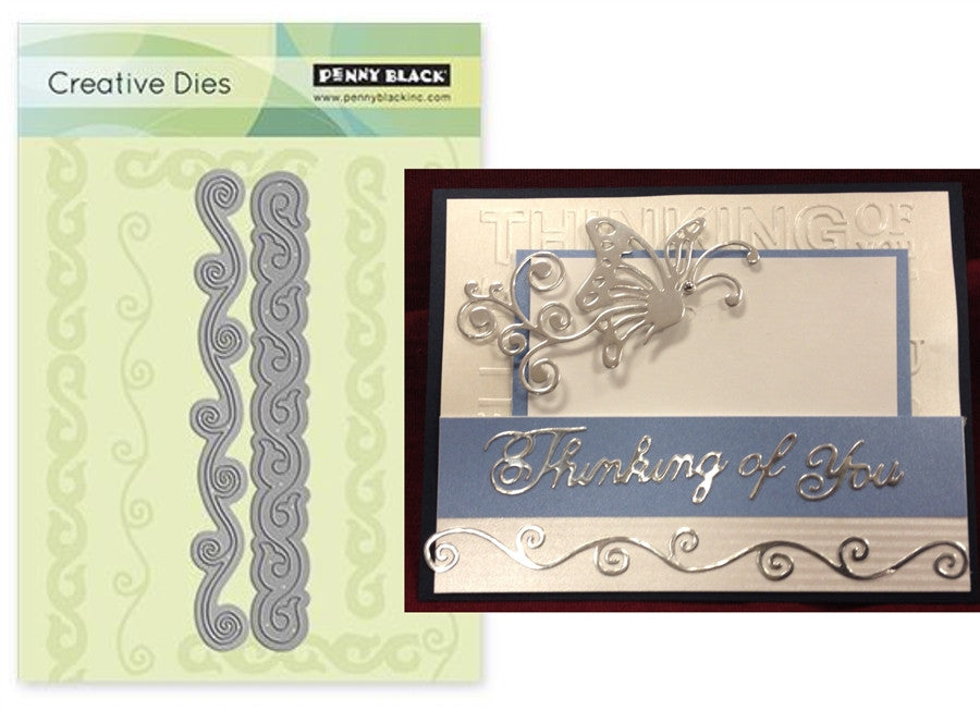 Scrolls Die Cut by Penny Black - Inspiration Station Scrapbook Store & Retreat