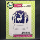 Deer Snowglobe Metal Die Cut by Impression Obsession Dies DIE472-R - Inspiration Station Scrapbook Store & Retreat