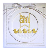 It's A Girl Metal Die by Creative Expressions CED10023 - Inspiration Station Scrapbook Store & Retreat
