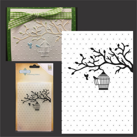 Bird Love embossing folder by Nellie Snellen embossing folders VINF005