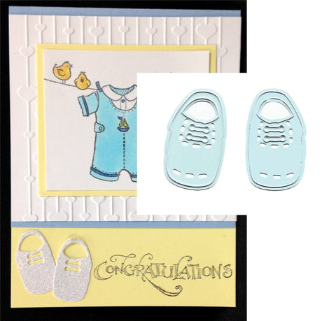 BABY BOY SHOES metal die cut by Joy Crafts - Inspiration Station Scrapbook Store & Retreat