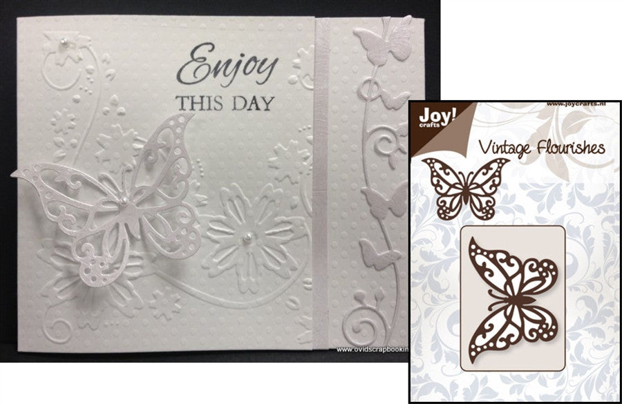 BUTTERFLY VINTAGE FLOURISHES BY JOY Beautiful butterfly die cut - Inspiration Station Scrapbook Store & Retreat