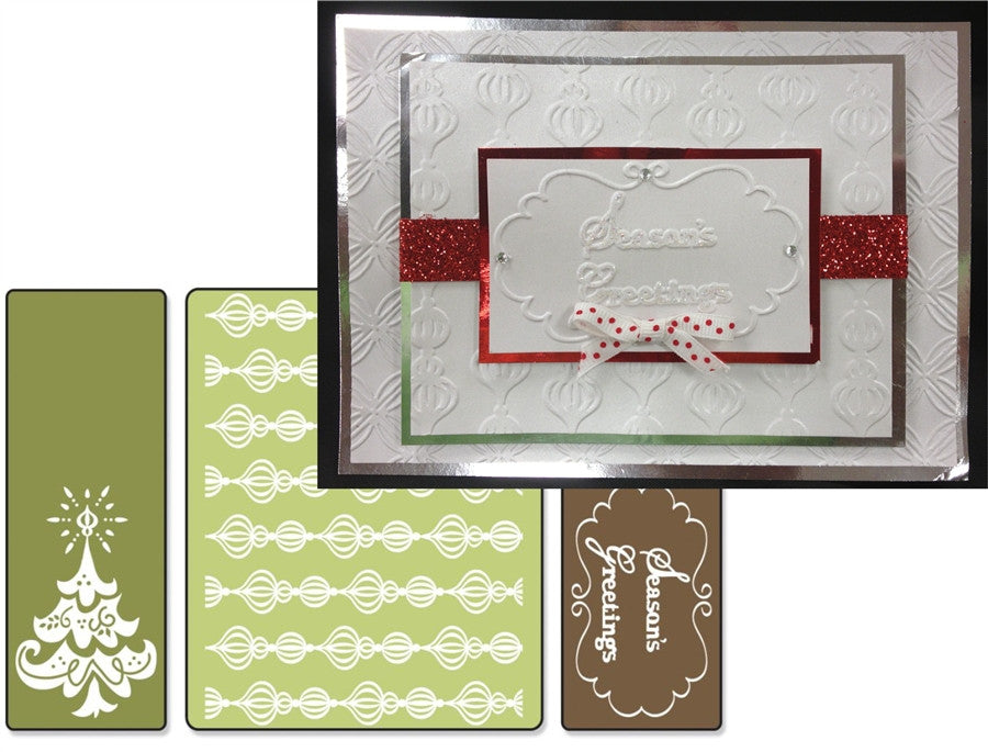 Season's Greetings 3pk Embossing Folder Set by Sizzix - Inspiration Station Scrapbook Store & Retreat
