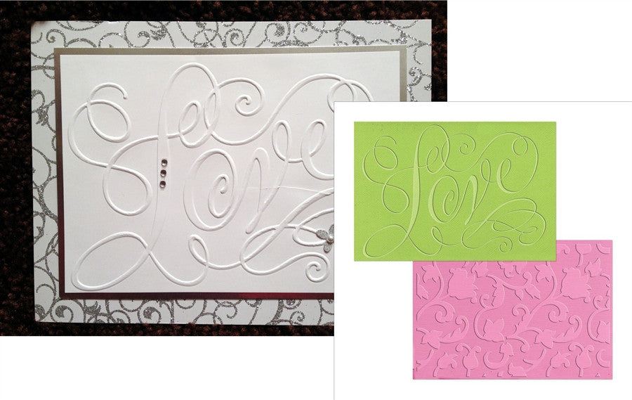 Love and Swirling Vines Embossing Folder Set by Sizzix by Brenda Walton - Inspiration Station Scrapbook Store & Retreat
