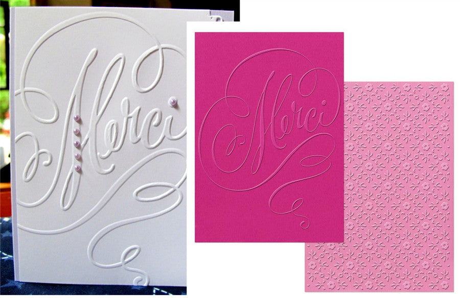 Merci and Printer's Ornament Embossing Folder Set by Sizzix by Brenda Walton - Inspiration Station Scrapbook Store & Retreat