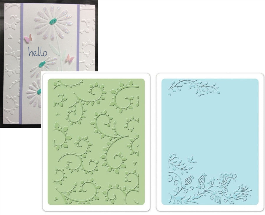 Garden Set Embossing Folders by Sizzix - Inspiration Station Scrapbook Store & Retreat