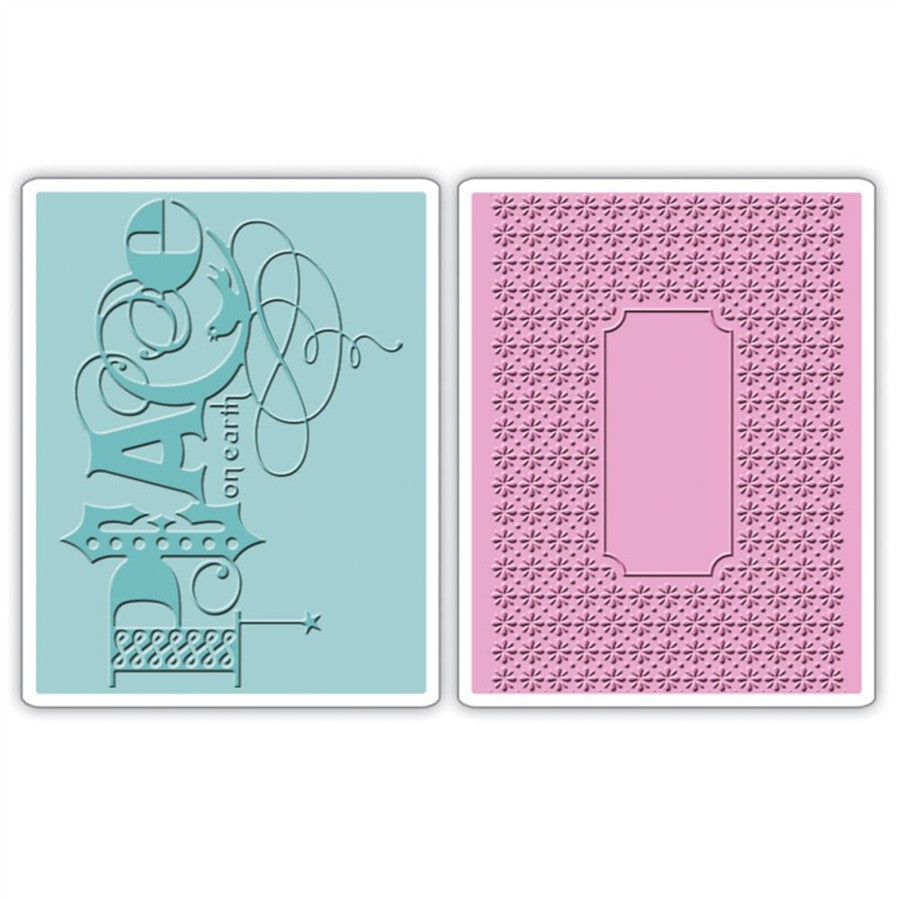 Peace Embossing Folder Set by Sizzix - Inspiration Station Scrapbook Store & Retreat
