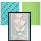 Pinwheels and Stripes Embossing Folder Set by Sizzix - Inspiration Station Scrapbook Store & Retreat
