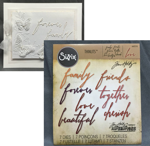 HANDWRITTEN LOVE Thinlits Metal Die Set by Sizzix 660218 - Inspiration Station Scrapbook Store & Retreat