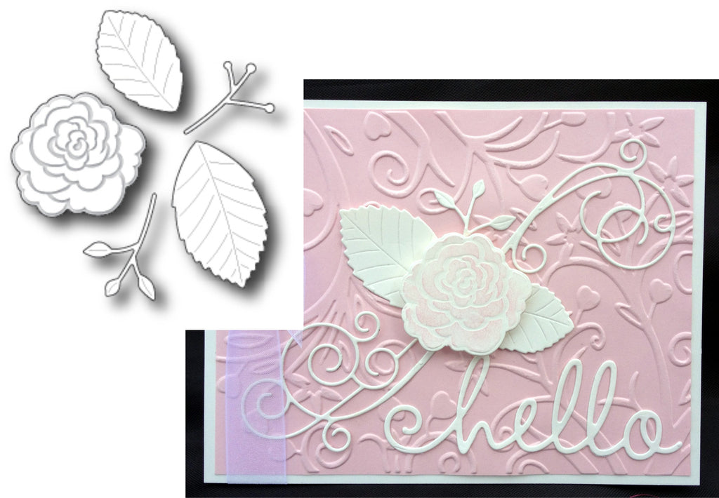 Sonora Rose metal die by Memory Box dies 98572