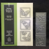 Bellina Butterfly Triptych metal die by Poppystamps dies 1534