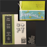 Tiny Frogs metal die set by Poppystamps dies 1781