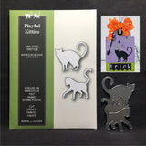 Playful Kitties metal die by Poppystamps dies 1243