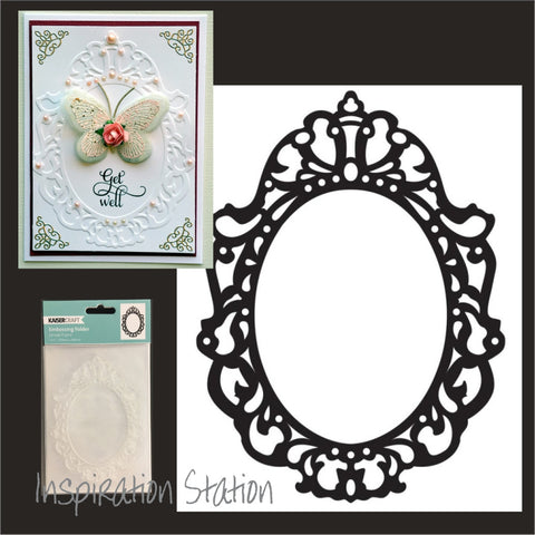 Inspiration Station Ornate Frame embossing folder by Kaisercraft embossing folders EF220