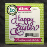Happy Easter Script words metal die by Impression Obsession cutting dies DIE367-J