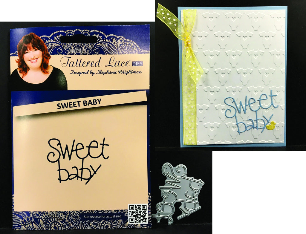 Sweet Baby metal die by Tattered Lace Dies D1098