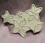 SMALL BLOOMING POINSETTIA by POPPY STAMPS 902 Thin Metal Die Cut - Inspiration Station Scrapbook Store & Retreat