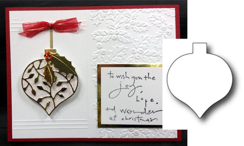 CLARISSA ORNAMENT BACKGROUND Die cut by POPPY STAMPS 932 - Inspiration Station Scrapbook Store & Retreat