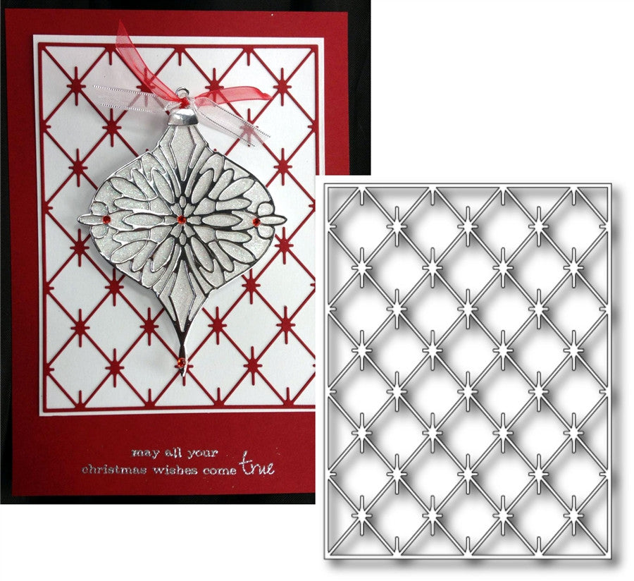 DIAMOND BACKGROUND 965 Thin Metal Die by Poppy Stamps - Inspiration Station Scrapbook Store & Retreat