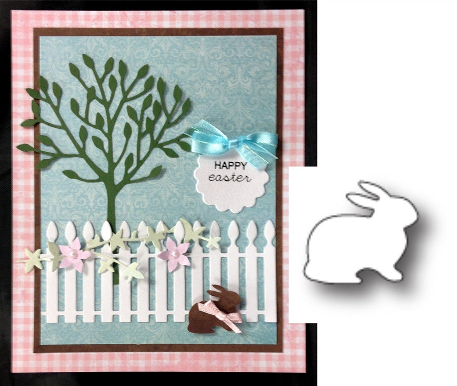 FLUFFY BUNNY by POPPY STAMPS 980 Thin Metal Die Cut - Inspiration Station Scrapbook Store & Retreat