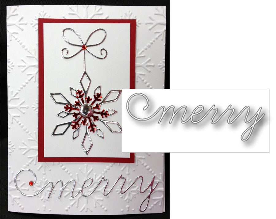 MERRY SCRIPT die by MEMORY BOX 98635 - Inspiration Station Scrapbook Store & Retreat
