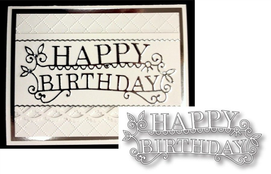 HAPPY BIRTHDAY EXTRAVAGANZA die by MEMORY BOX 98765 - Inspiration Station Scrapbook Store & Retreat