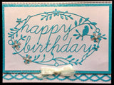 HAPPY BIRTHDAY TIDINGS die by MEMORY BOX 98845 - Inspiration Station Scrapbook Store & Retreat