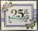 TWENTY FIFTH CELEBRATION Metal Die by MEMORY BOX 99011 - Inspiration Station Scrapbook Store & Retreat
