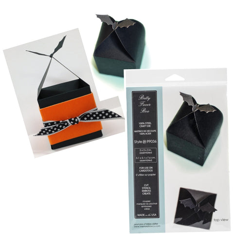 BATTY FAVOR BOX die by MEMORY BOX 99036 for Halloween treats - Inspiration Station Scrapbook Store & Retreat