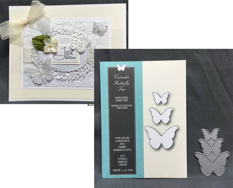 CASCADIA BUTTERFLY TRIO die set by MEMORY BOX 99095 - Inspiration Station Scrapbook Store & Retreat